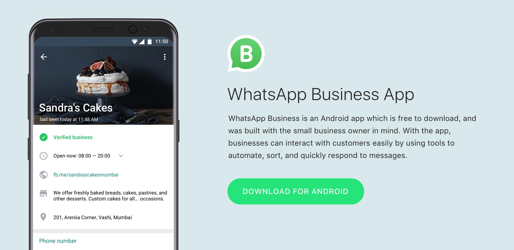 whatsapp pour les entreprises